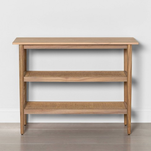 Wood Console Table with Caning - Hearth & Hand™ with Magnolia - image 1 of 4