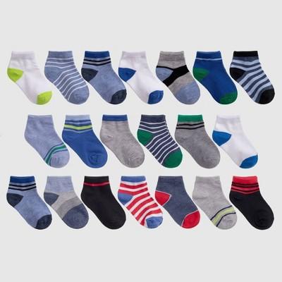 Toddler 20pk Striped Low Cut Socks - Cat & Jack™ 2T-3T