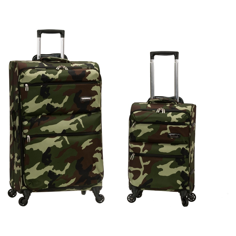 Rockland Gravity 2pc Light Weight Luggage Set - Camo, Green