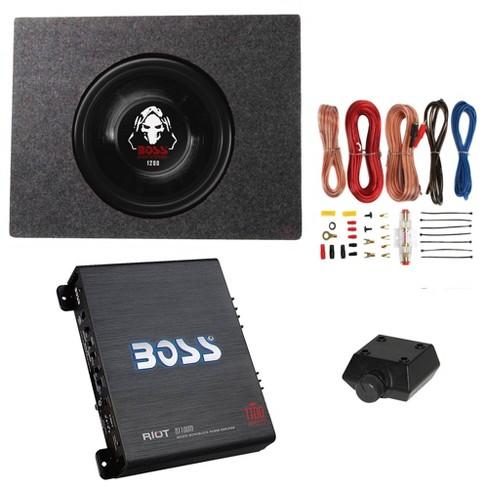 Boss 1200W Subwoofer + Q Power Truck Enclosure + Boss 1100W A/B Amplifier - image 1 of 4
