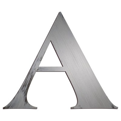 Letter2Word Hand Painted Letter A 3D Wall Sculpture - Nickel