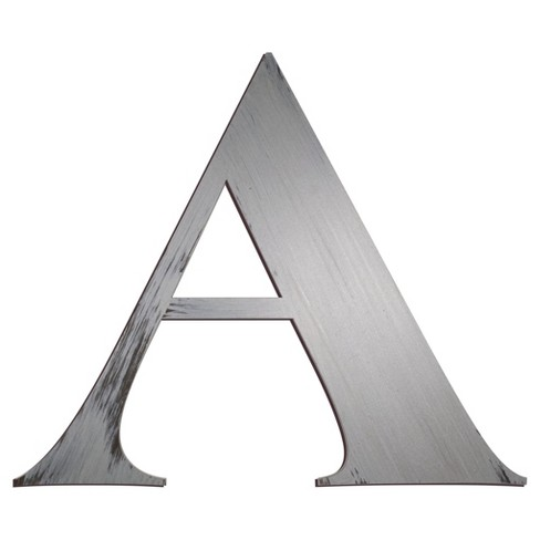 Letter2Word Hand Painted Letter 3D Wall Sculpture - Nickel - image 1 of 2