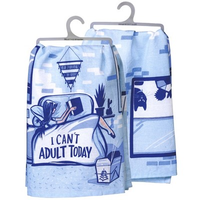 """Decorative Towel 28.0"""" I Can't Adult Today Dish Towels Kitchen  -  Kitchen Towel"""