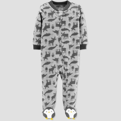Baby Boys' Animals Microfleece Sleep 'N Play - Just One You® made by carter's Gray 3M