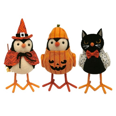3pk Halloween Fabric Bird Witch, Cat, Pumpkin - Hyde and Eek! Boutique™ - image 1 of 1