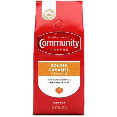 Community Coffee Golden Caramel Medium Dark Roast Ground Coffee - 12oz