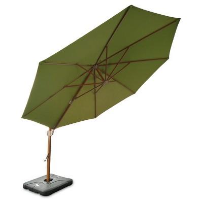 Sunbrella 11u0027 Round Offset Patio Umbrella With Base   Medium Faux Wood Pole    Smith U0026 Hawken™ : Target