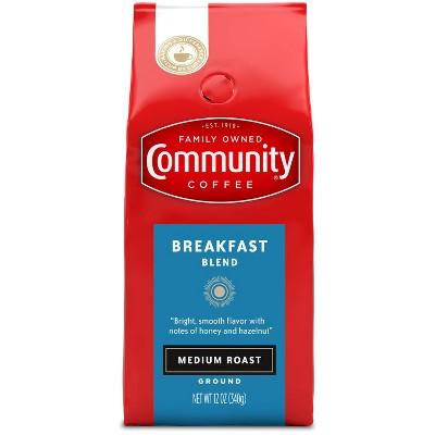 Community Coffee Breakfast Blend Medium Roast Ground Coffee - 12oz