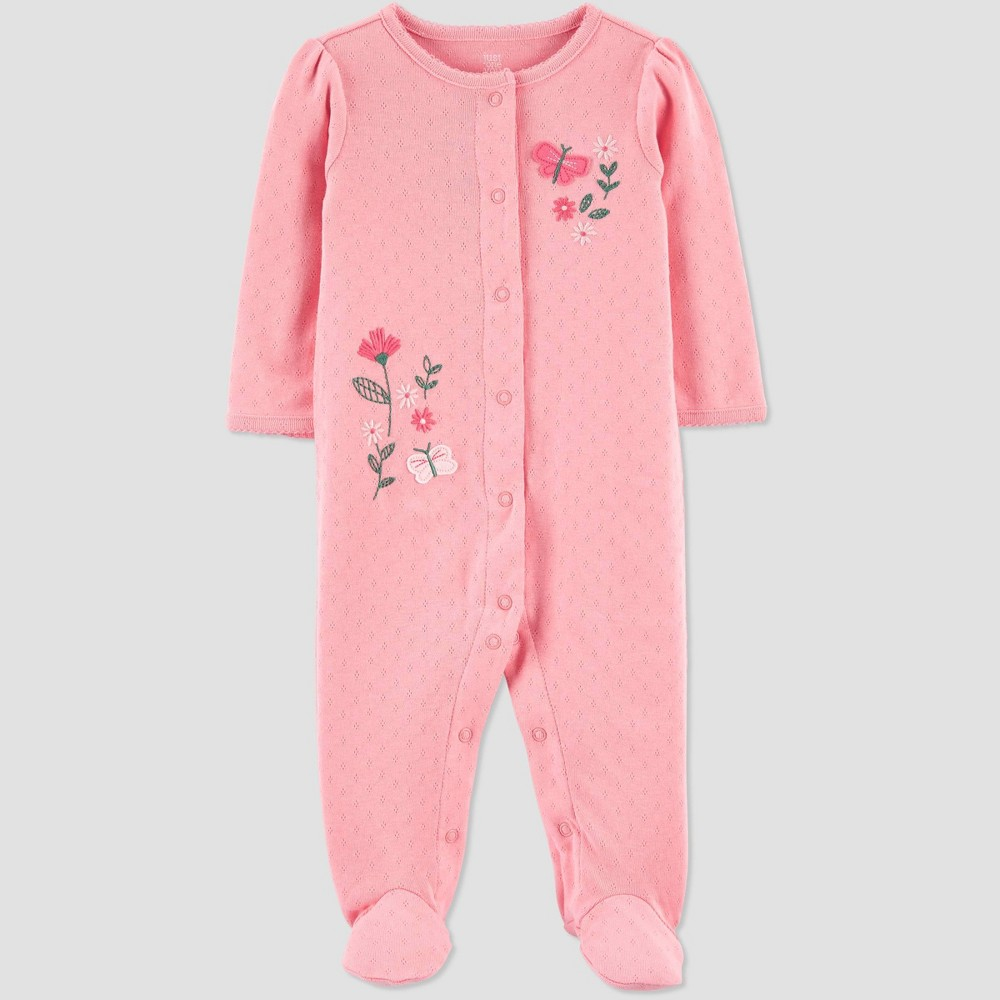 Baby Girls 39 Floral Sleep N 39 Play Just One You 174 Made By Carter 39 S Pink 9m