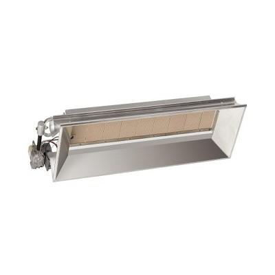 Mr. Heater MH40LP Portable Indoor/Outdoor 40,000 BTU Liquid Propane Gas Stainless Steel High-Intensity Clean Radiant Garage Workshop Heater, Silver