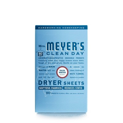 Mrs. Meyer's Clean Day Dryer Sheets - Rain Water - 80ct