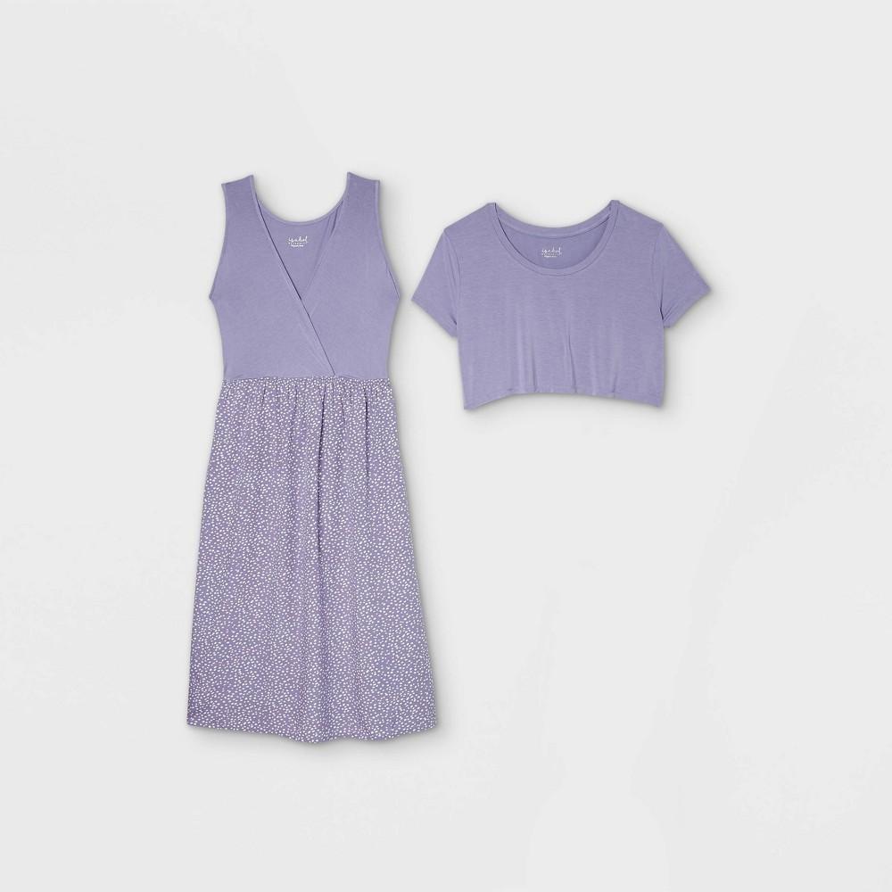 Polka Dot Short Sleeve Nursing Knit To Woven A Line Maternity Dress Isabel Maternity By Ingrid 38 Isabel 8482 Purple L