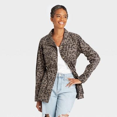 Women's Jacket - Knox Rose™ Gray Leopard Print