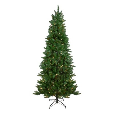 Northlight 7' Pre-Lit Altoona Pine Slim Artificial Christmas Tree - Clear Lights