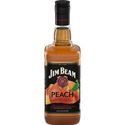 Jim Beam Peach Bourbon Whiskey - 750ml Bottle