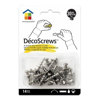 Under the Roof Decorating Screws Nickel Project Pack