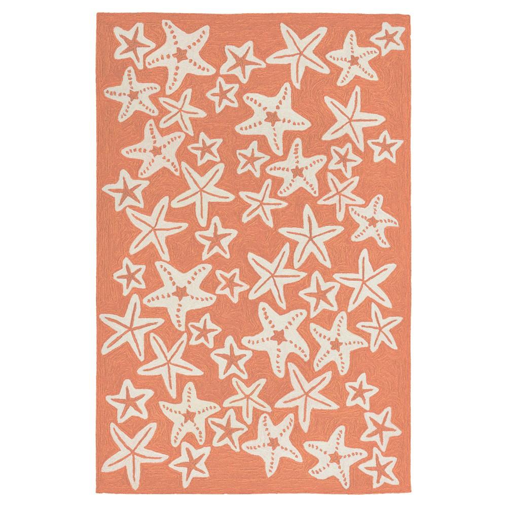 Capri Starfish Rug - Orange - (2'X8' Runner) - Liora Manne