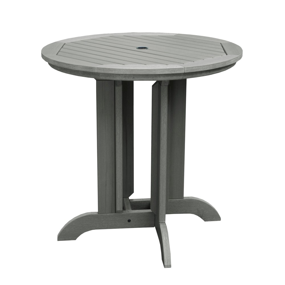 "Image of ""36"""" Round Counter Patio Dining Table Coastal Teak Gray - highwood, Coastal Brown Gray"""