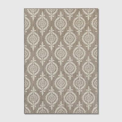 7'X10' Paisley Tufted Area Rugs Gray - Threshold™