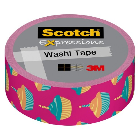 Scotch Washi Tape Poppy 10Mx15Mm - Running Change To Fun Dots - image 1 of 1