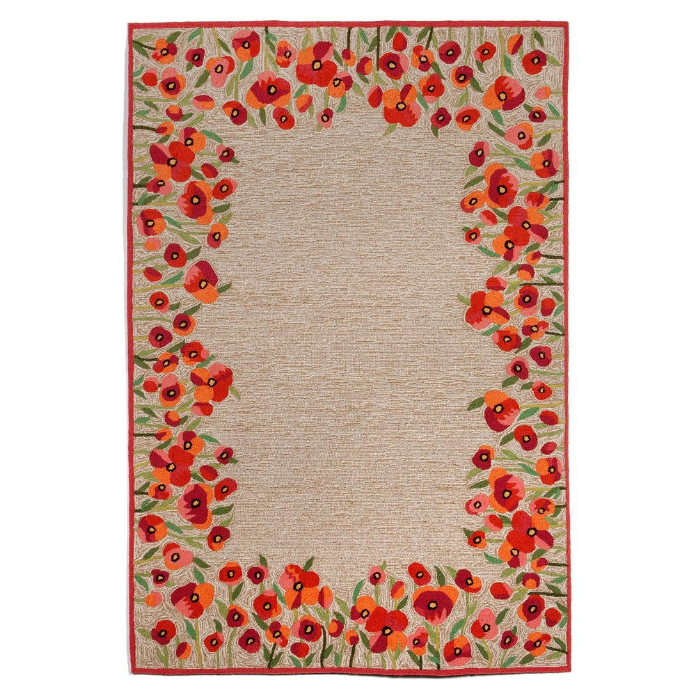 Red Floral Tufted Area Rug 5'X7'6 - Liora Manne