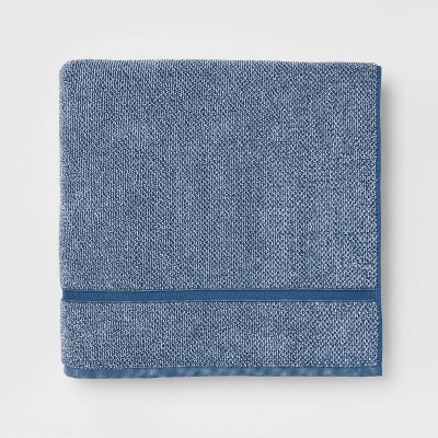 Performance Texture Bath Sheet Dark Blue - Threshold™