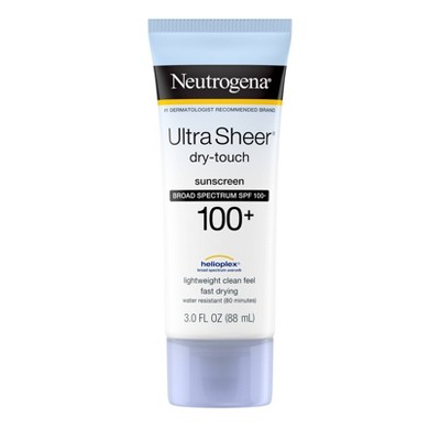 Sunscreen & Tanning: Neutrogena Ultra Sheer Dry-Touch