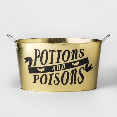 Potions and Poison Halloween Beverage Tub Gold - Hyde and Eek! Boutique™