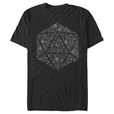 Men's Dungeons & Dragons Dice Symbol Collage T-Shirt