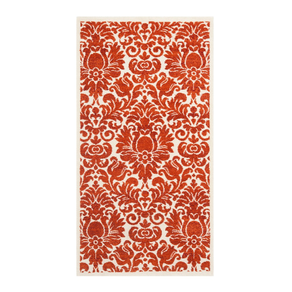 Red Floral Loomed Accent Rug 2'X3'7 - Safavieh