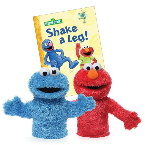 """Gund Elmo and Cookie Monster 11"""" Hand Puppets with Board Book - image 1 of 4"""