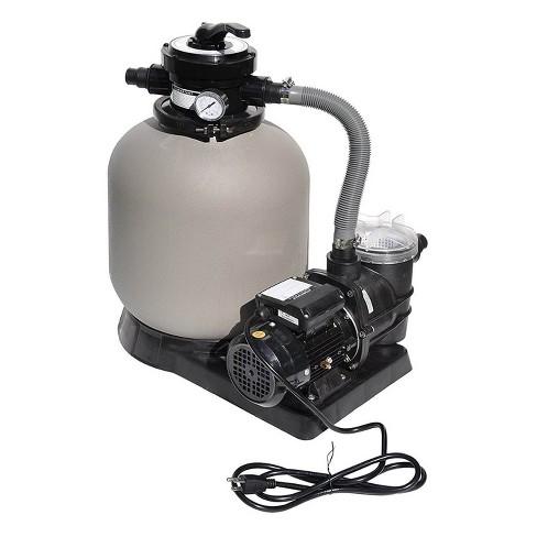Swimline 2400 GPH 14-Inch .5 HP High-Quality Pool Sand Filter Pump Combo | 71405 - image 1 of 4