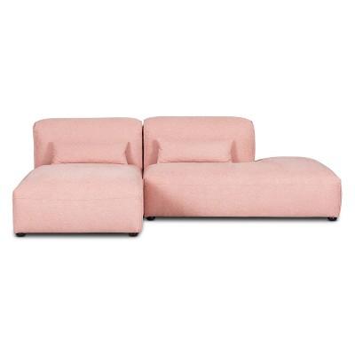 2pc Tourbino Right Armless Chaise Modular Sofas - Poly & Bark