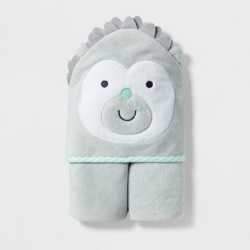 Baby Hedgehog Hooded Towel Cloud Island Light Gray Target