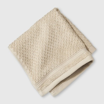 Performance Texture Washcloth Tan - Threshold™