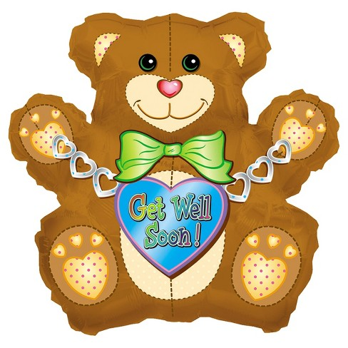Get Well Bear Mylar Balloon - image 1 of 1