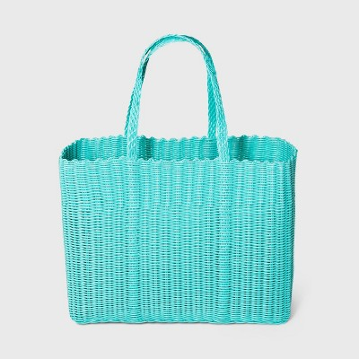 Woven Tote Handbag - Shade & Shore™ Turquoise Blue