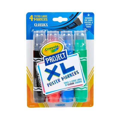 4ct Crayola Project XL Poster Markers - Classic Colors