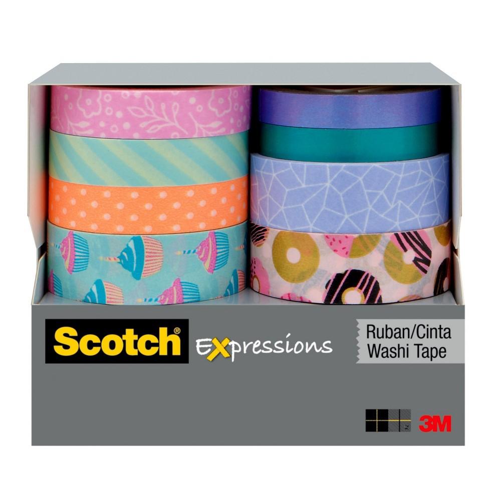 8ct Washi Tape Sweets/Pink - Scotch, Black