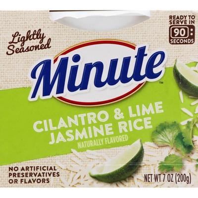 Minute 90 Second Cilantro & Lime Jasmine Rice Microwavable Bowl - 7oz
