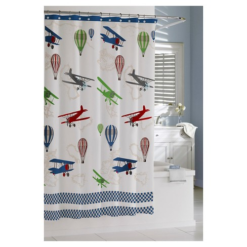 Bambini In Flight Shower Curtain Kassatex