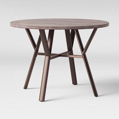 42  Acushnet Farmhouse Dining Table Round Black - Threshold™