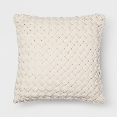 Chunky Knit Oversize Square Throw Pillow Cream - Threshold™
