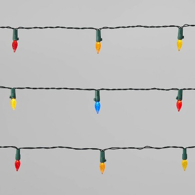 Christmas String Lights 15ct C3 LED Battery Operated with Green Wire - Wondershop™