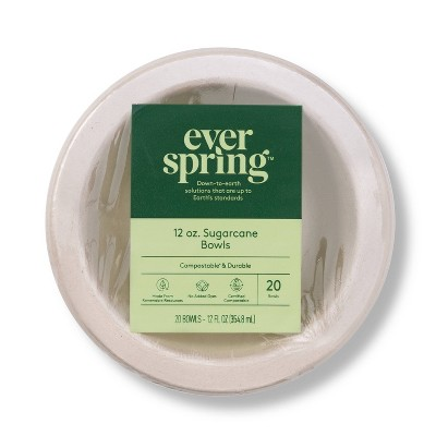 Disposable Bowls - 20ct/12oz - Everspring™