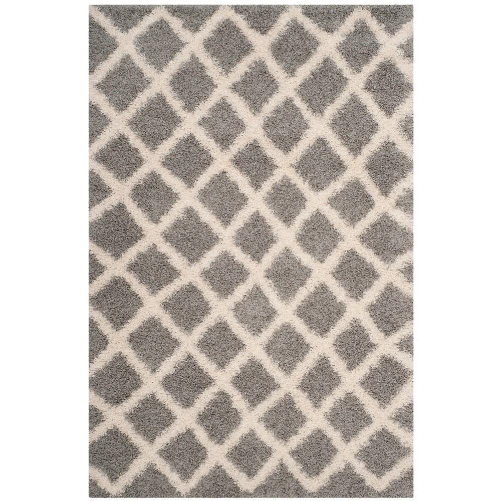 6'X9' Geometric Loomed Area Rug Gray/Ivory - Safavieh