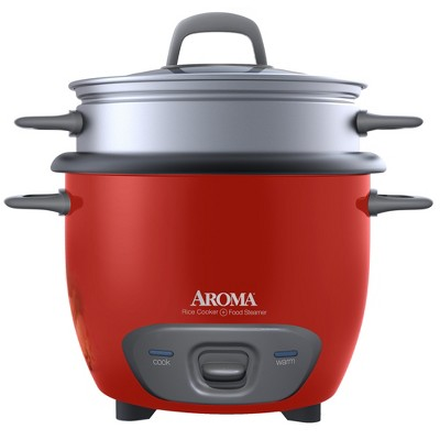 Aroma 14-Cup Rice Cooker & Steamer Red - ARC-747-1NGR