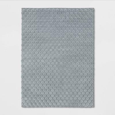 4'x6' High/Low Circle Rug Gray - Pillowfort™