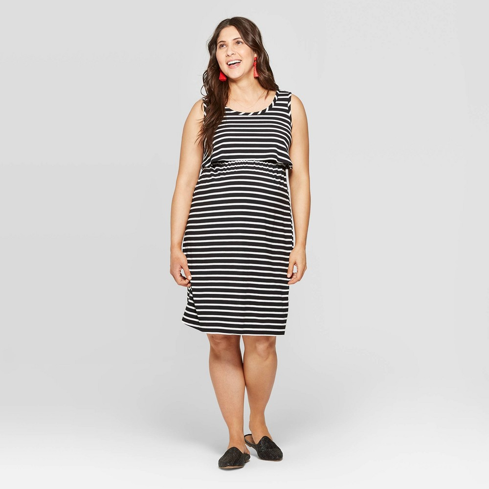17329d890db59 ... Ingrid Isabel BlackWhite S Womens $24.99 This striped, midi length maternity  dress puts the fun in functional. The flirty silhouette is comfy throughout  ...