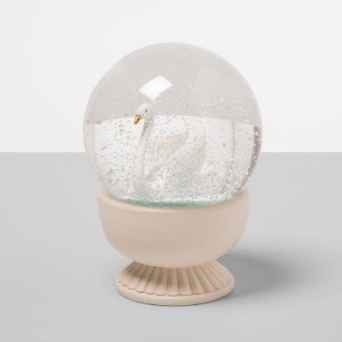 "13.9"" x 3.9"" Swan Snow Globe White - Opalhouse™ - image 1 of 1"